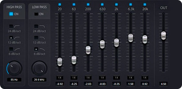 Equalizer 7-band description | NEOTONE Online Shop